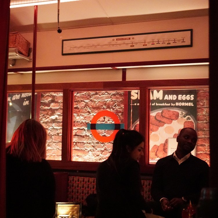 You can sip your cocktails in a repurposed underground car