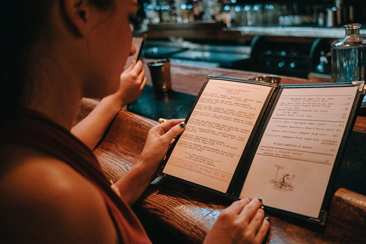 Be Sure To Browse The Menu At Dutch Kills NYC Speakeasy