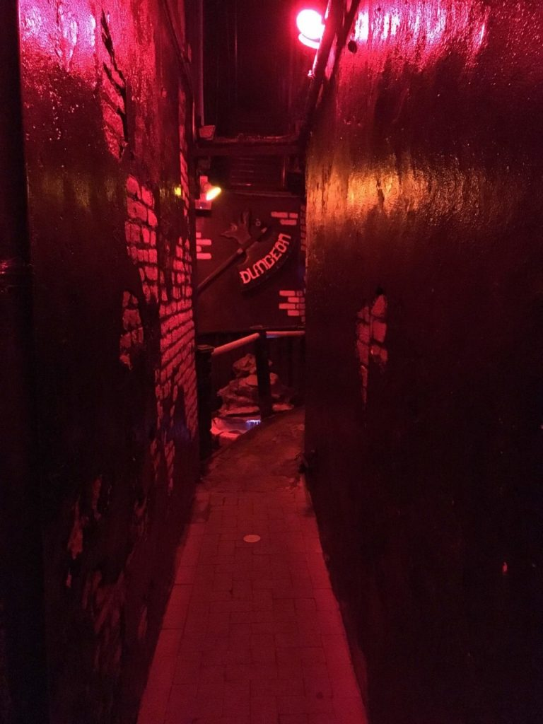New Orleans secret bar the dungeon alley nighttime vampire bar